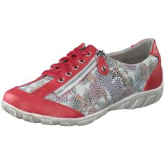 Halbschuhe für Frauen - Charmosa Schnürer Damen rot  - Onlineshop Schuhcenter