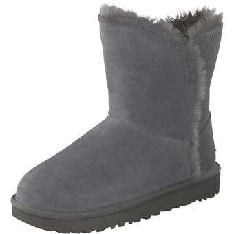 UGG Classic Short Fluff High Low Damen grau | Schuhe > Stiefel > Winterstiefel | Grau | Leder | Ugg