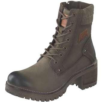 Dockers Schnür Boots Damen grün