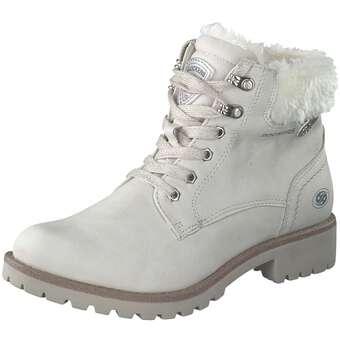 Stiefel - Dockers Schnür Boots Damen weiß  - Onlineshop Schuhcenter
