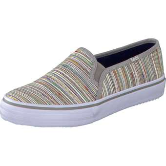 Keds Double UP Slip Woven Stripe grau