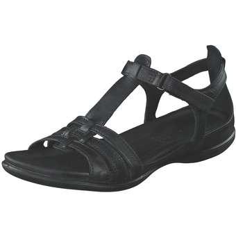 ecco sandalen schwarz flach