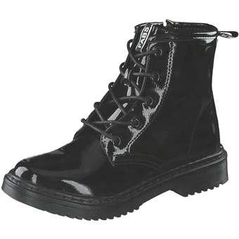 Fabs Schnür Boots schwarz
