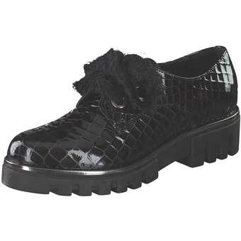 Halbschuhe für Frauen - Fiocco Schnürer Damen schwarz  - Onlineshop Schuhcenter