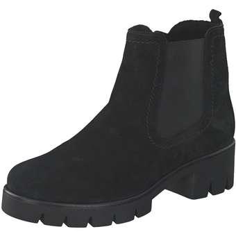 Gabor Chelsea Stiefelette Damen schwarz | Schuhe > Stiefeletten | Schwarz | Leder | Gabor