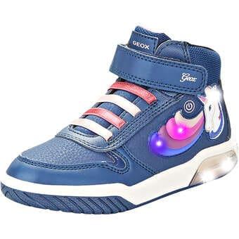 - Geox Jr Inek Girl Sneaker High Mädchen blau - Onlineshop Schuhcenter