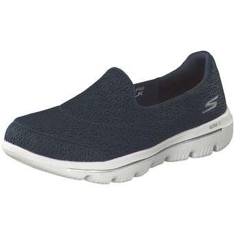 Sportschuhe für Frauen - Skechers Go Walk Evolution Ultra Enrich Damen blau  - Onlineshop Schuhcenter