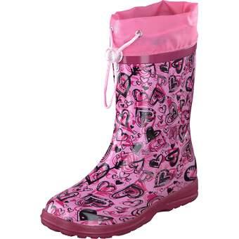Gummistifel mit Stulpe pink