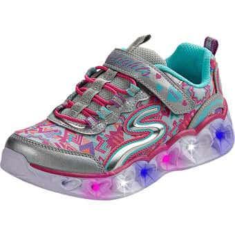 Minigirlschuhe - Skechers S Lights Heart Lights Mädchen silber - Onlineshop Schuhcenter