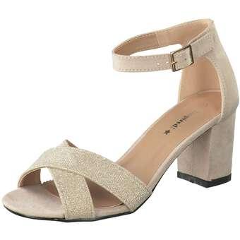 Inspired Shoes Sandale Damen beige