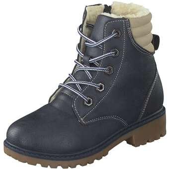 - Inspired Shoes Schnür Boots Mädchen blau - Onlineshop Schuhcenter