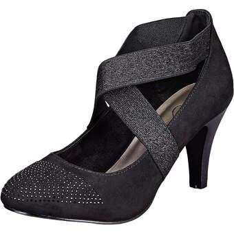Inspired Shoes Spangenpumps Damen schwarz