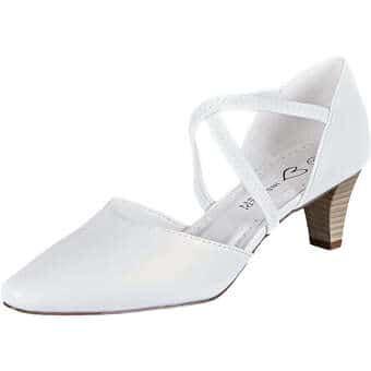Pumps für Frauen - Inspired Shoes Spangenpumps Damen weiß  - Onlineshop Schuhcenter