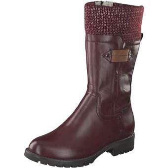 Stiefel für Frauen - Jana comfort Bulbo Stiefel Damen rot  - Onlineshop Schuhcenter