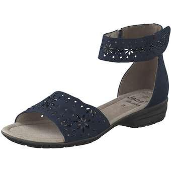 Jana comfort Sandale Damen blau