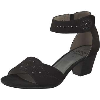 Jana comfort Sandale Damen schwarz