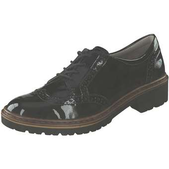 Halbschuhe - Jenny Portland Schnürer Damen schwarz  - Onlineshop Schuhcenter