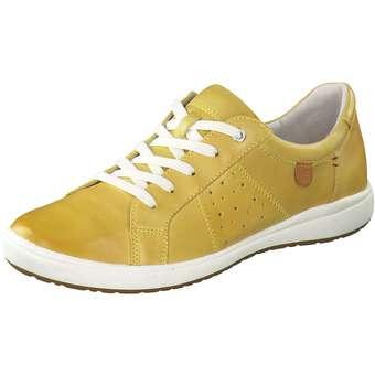 Halbschuhe für Frauen - Josef Seibel Caren 01 Schnürer Damen gelb  - Onlineshop Schuhcenter
