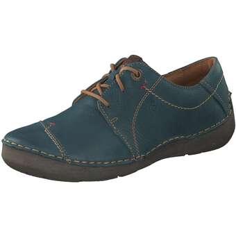 Halbschuhe für Frauen - Josef Seibel Fergey 20 Schnürer Damen blau  - Onlineshop Schuhcenter