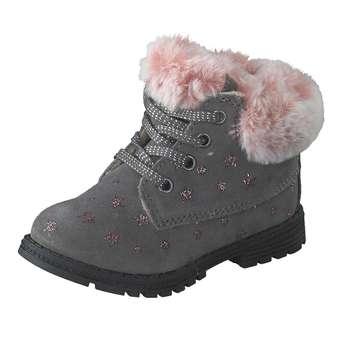 Minigirlschuhe - Leone for kids Lauflern Schnürer Mädchen grau - Onlineshop Schuhcenter