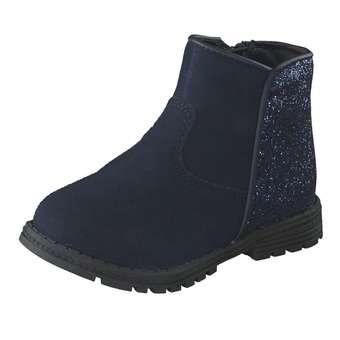 Minigirlschuhe - Leone for kids Lauflern Stiefel Mädchen blau - Onlineshop Schuhcenter