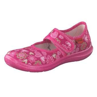 Minigirlschuhe - Leone Ballerina Hausschuhe Mädchen pink - Onlineshop Schuhcenter