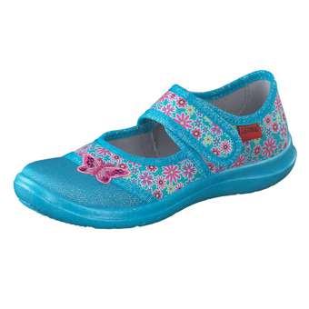 Minigirlschuhe - Leone Hausschuhe Mädchen blau - Onlineshop Schuhcenter