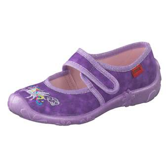 Minigirlschuhe - Leone Hausschuhe Mädchen lila - Onlineshop Schuhcenter