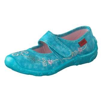 Minigirlschuhe - Leone Hausschuhe Mädchen türkis - Onlineshop Schuhcenter