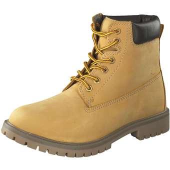 Leone Schnür Boots gelb