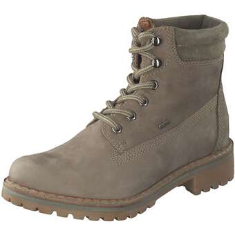 Leone Tex Tulla Schnürstiefelette Damen grün   Schuhe > Stiefel > Schnürstiefel   leone