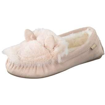 Flip Flop Loafer mouse Hausschuh Damen rosa