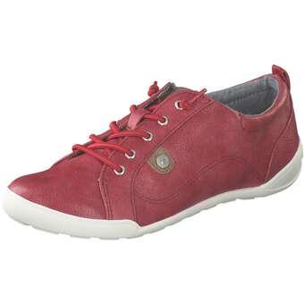 Halbschuhe für Frauen - Mustang Schnürer Damen rot  - Onlineshop Schuhcenter
