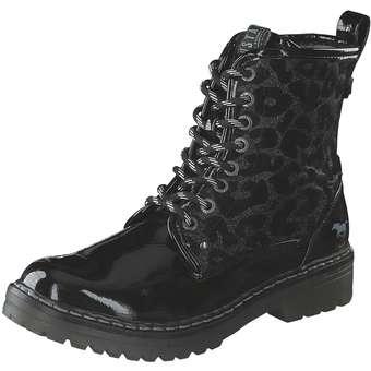 - Mustang Schnür Boots Mädchen schwarz - Onlineshop Schuhcenter