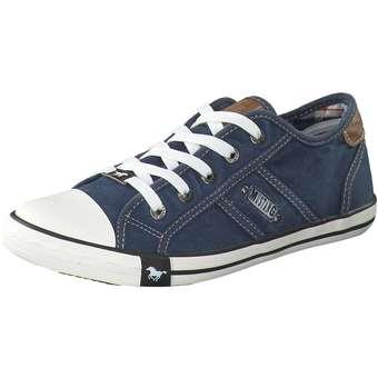 Sneakers - Mustang Schnürsneaker Damen blau  - Onlineshop Schuhcenter