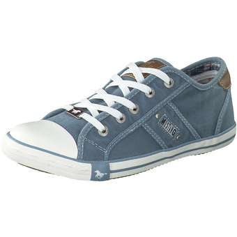 Mustang Schnürsneaker Damen blau | Schuhe > Sneaker > Sneaker | mustang
