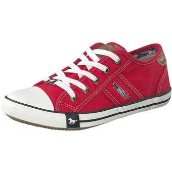 Sneakers - Mustang Schnürsneaker Damen rot  - Onlineshop Schuhcenter
