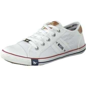 Sneakers - Mustang Schnürsneaker Damen weiß  - Onlineshop Schuhcenter