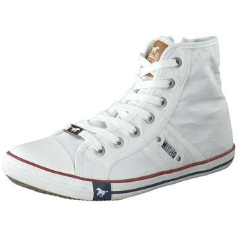 Sneakers - Mustang Sneaker High Damen weiß  - Onlineshop Schuhcenter