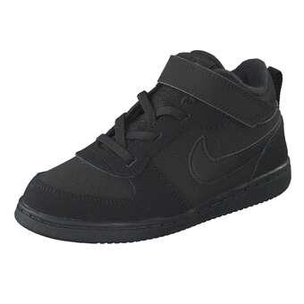 Nike Performance Court Borough Mid BTV Sneaker Mädchen Jungen schwarz