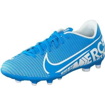 Nike Performance Jr Vapor 13 Club FG MG Fußball Mädchen|Jungen blau