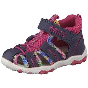 Puccetti Lauflern Sandale Mädchen blau
