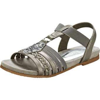Sandalen für Frauen - Puccetti Sandale Damen silber  - Onlineshop Schuhcenter
