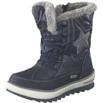 - Puccetti Schnür Boots Mädchen blau - Onlineshop Schuhcenter