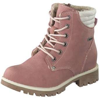 - Puccetti Schnür Boots Mädchen rosa - Onlineshop Schuhcenter