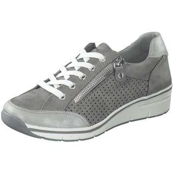 Halbschuhe für Frauen - Puccetti Schnürer Damen grau  - Onlineshop Schuhcenter