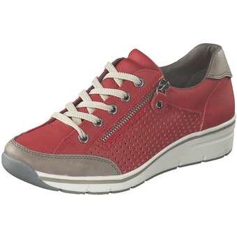 Halbschuhe für Frauen - Puccetti Schnürer Damen rot  - Onlineshop Schuhcenter
