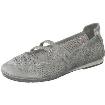 Ballerinas - Puccetti Spangenballerina Damen grau  - Onlineshop Schuhcenter