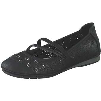 Ballerinas - Puccetti Spangenballerina Damen schwarz  - Onlineshop Schuhcenter