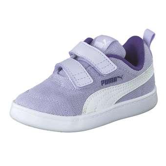 Minigirlschuhe - PUMA Courtflex v2 Mesh Inf Sneaker Mädchen|Jungen grau - Onlineshop Schuhcenter